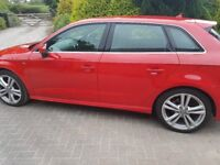 AUDI A3 1.6 TDI S LINE SPORTBACK 5dr , NO TAX, PARKING SENSORS, SAT NAV , LEATHER INTERIOR