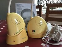 baby monitor Philips, used, mains or battery operated, with instructions