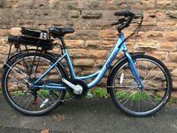 NEW Falcon Serene Step Through Electric Bike - Pearl Blue - RRP£1200