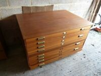 House Move forces sale - Large 8 Drawer Wooden Plan Chest