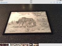 Two Horse Franed Prints