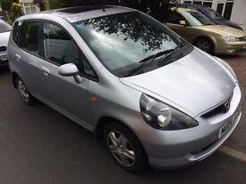 Honda Jazz. 1.4 petrol. Fsh. New service. Hpi clear. Very tidy car. Low mileage. Bargain