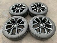 "Range Rover Sport 21"" Alloys Gloss Black Genuine Original Style 505 Wheels 275/45/21 Pirelli Tyres"