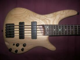 Ibanez SR605 , 5-String Active Bass Guitar.