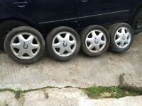 VAUXHALL 15 INCH 4x100 ALLOYS FOR SALE