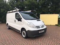 2009 LWB NISSAN PRIMASTAR COMPLETE WITH ROOF RACK AND TUBES, SIMILAR TO VAUXHALL VIVARO