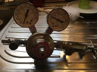 Antique gas regulator Corning 523159 two stage regulator