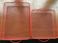 Cook's essentials square and rectangular oven crisper trays