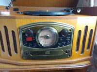 Record player , radio and cd player, retro style
