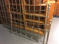 BEAUTIFUL CONDITION SIVER COATED METAL BED FRAME