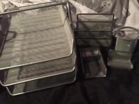 Silver stationary set