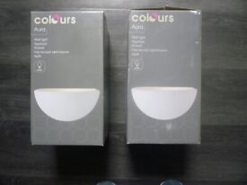 New wall lights in their boxes ( pair)