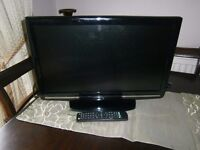"""Samsung computer monitor and analog television 19"""" with remote"""
