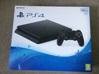 PlayStation 4 - 500GB - Jet Black - Brand new & unopened