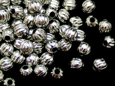 P A127 40 X 4mm antiguos Plateado Melón espaciador perlas resultados Gratis Reino Unido P