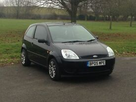 Ford Fiesta 1.2 2005 black 3 door long MOT and lots of history not 206, polo,