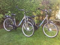 ELECTRIC BIKE - 2 x RALEIGH FORGE LOW STEP ELECTRIC BIKES