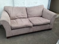 LARGE GREY MARKS & SPENCER MOLE SKIN FABRIC SOFA EXCELLENT CONDITION FREE LOCAL DELIVERY AVAILABLE