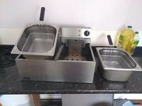 Lincat Dual Catering Deep Fat Fryer 5L per side