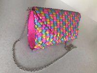 Beth Jordan CLUTCH BAG Pink Party / Occasion Purse