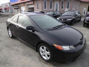 2007 Honda Civic Coupe EX (1 SEULE TAXE A PAYER) TOIT OUVRANT MA