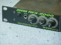 ZOOM RFX-2000 digital effects / echo unit loaded with EFTP shadows presets.