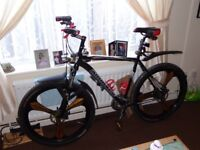 29er mountain bike with brand new set of spare wheels