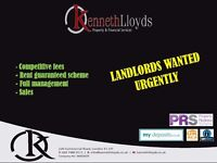 LANDLORDS WANTED URGENTLY APPLICANTS WAITING