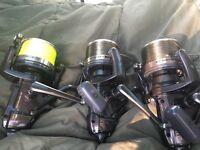 3 x shimano longcast big bait runner fishing reel