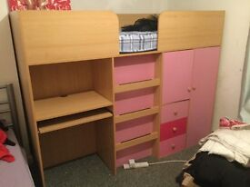 Girls cabin bed only 8months old
