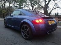 BLUE 2006 AUDI TT COUPE 1.8 PETROL AUTOMATIC LONG MOT