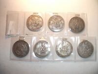 7 x WW2 Silver (50%) Shillings ~ Dates 1939 - 1945 ~ See Photo's For Condition