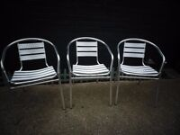 3 BISTRO CAFE CHAIRS ALL IN EXCELLENT CONDITION £35 FOR ALL SET