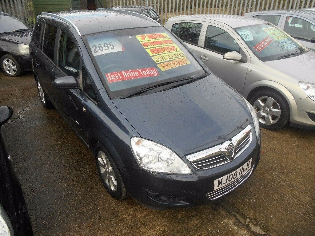 vauxhall zafira 1.6 breeze 5dr 2008 model 7 seater mpv ,full mot on purchase,68,000 miles,history