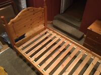 A Used Single Bed made by solid pine wood