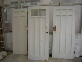 1930's internal solid traditional wood doors various sizes for restoration or stripping -door 2 of 6