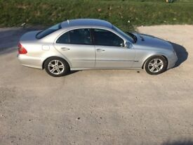 Mercedes Benz E220, 2008, Silver with full black leather seats, Diesel, Atutomatic, 170BHP