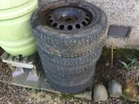 VAG 16inch 5x100 Steel Wheels & Tyres Golf MK4 Bora TT A3 Banded Steels
