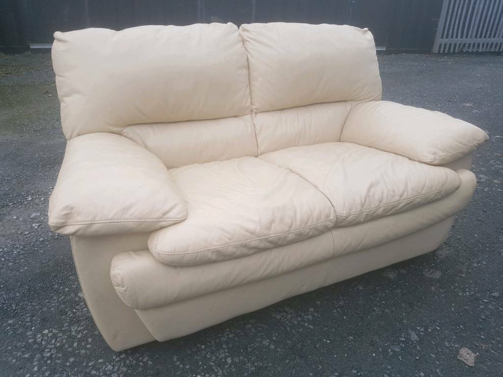 Real Leather sofa 2 seater