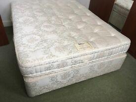King size divan bed (150cmx200cm) Relyon Orthopocket de Luxe