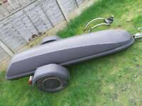 Motorcycle trailer and custom towbar