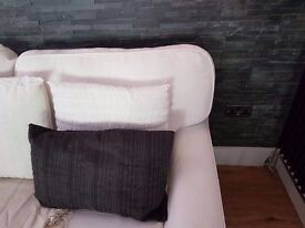 Sofa two seater and black coffee table