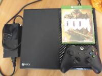 Xbox One + Pad with battery pack + Doom