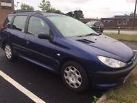 Peugeot 206 SW estate 2.0 diesel. Mot march 2019