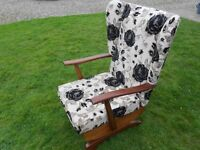 Padded Wing Back Rocking Chair