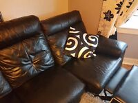 Leather 2 and a 3 seater electric recliner couches