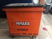 Commercial metal waste bin