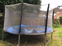 big trampoline for sale, not sure what size think it may be a 10ft. all the parts.