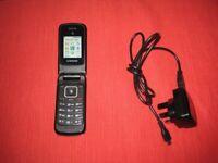 Quality Samsung Basic Pay As You Go Mobile Flip Top Phone. Model SGH A157V.