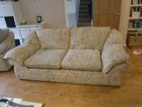 Three piece suites,( two sofas, four armchairs)